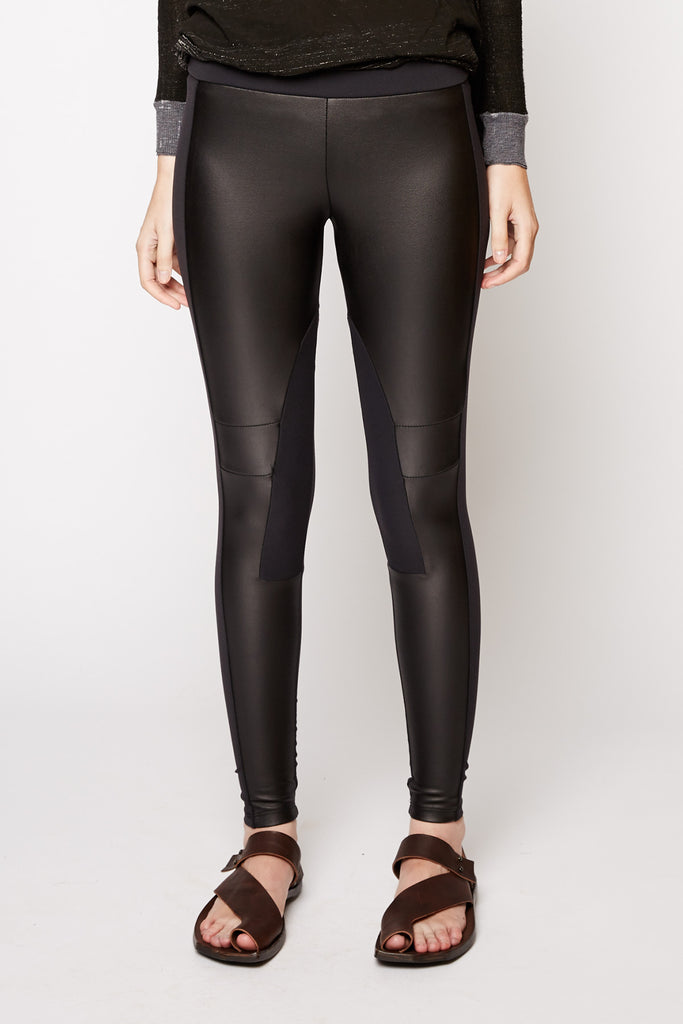 Willow & Clay PU Insert Leggings
