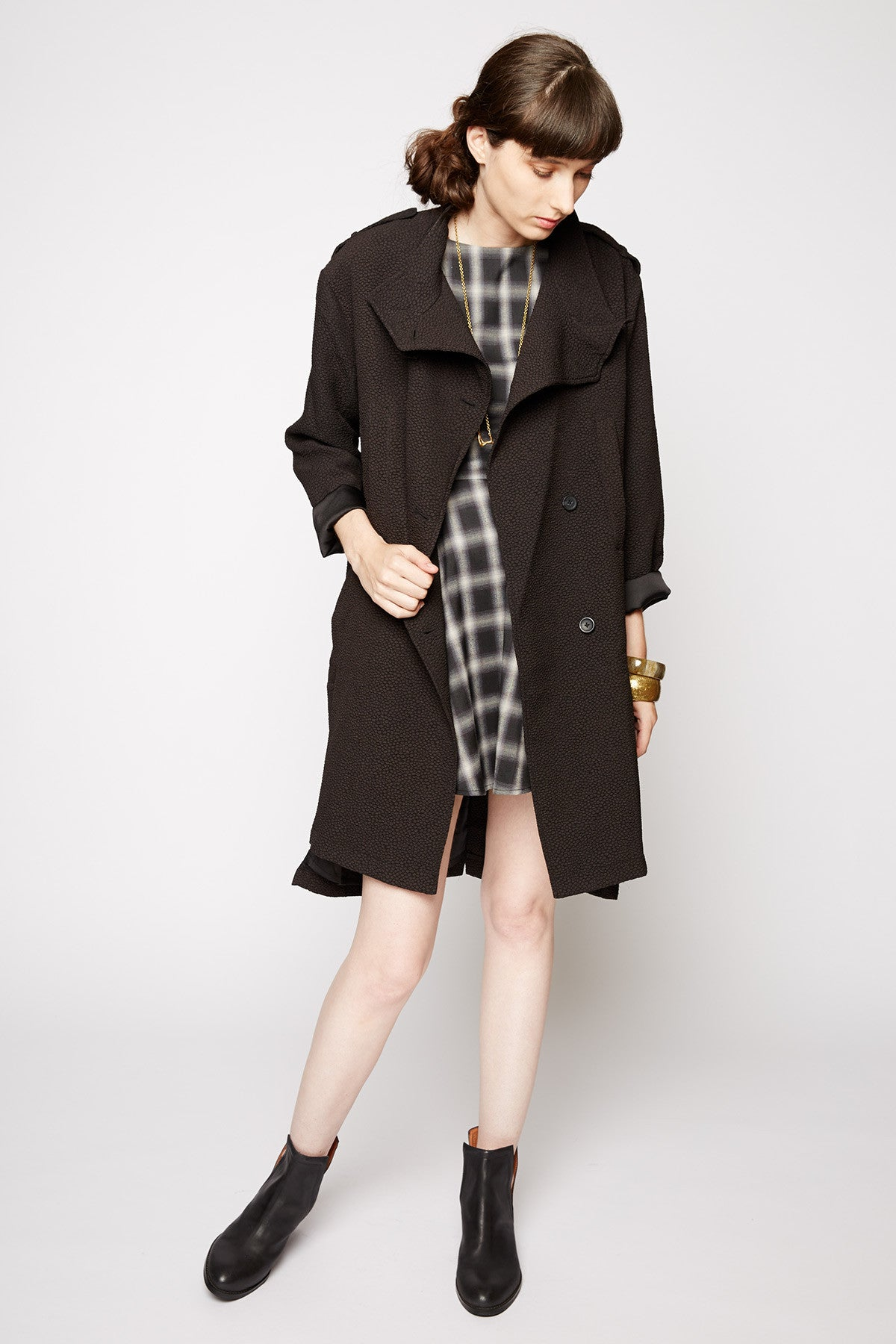 Line and Dot Baldwin Coat