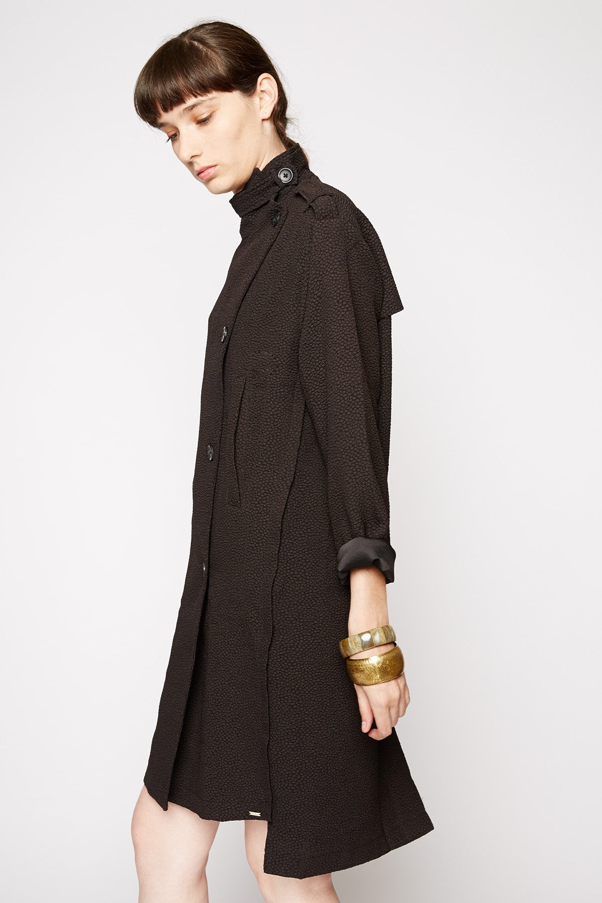 Helios Textured Duster Coat by Line and Dot