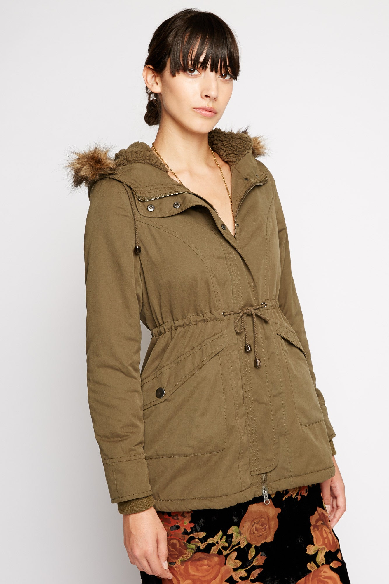 Eridanus Fur Hood Anorak Coat by Tulle