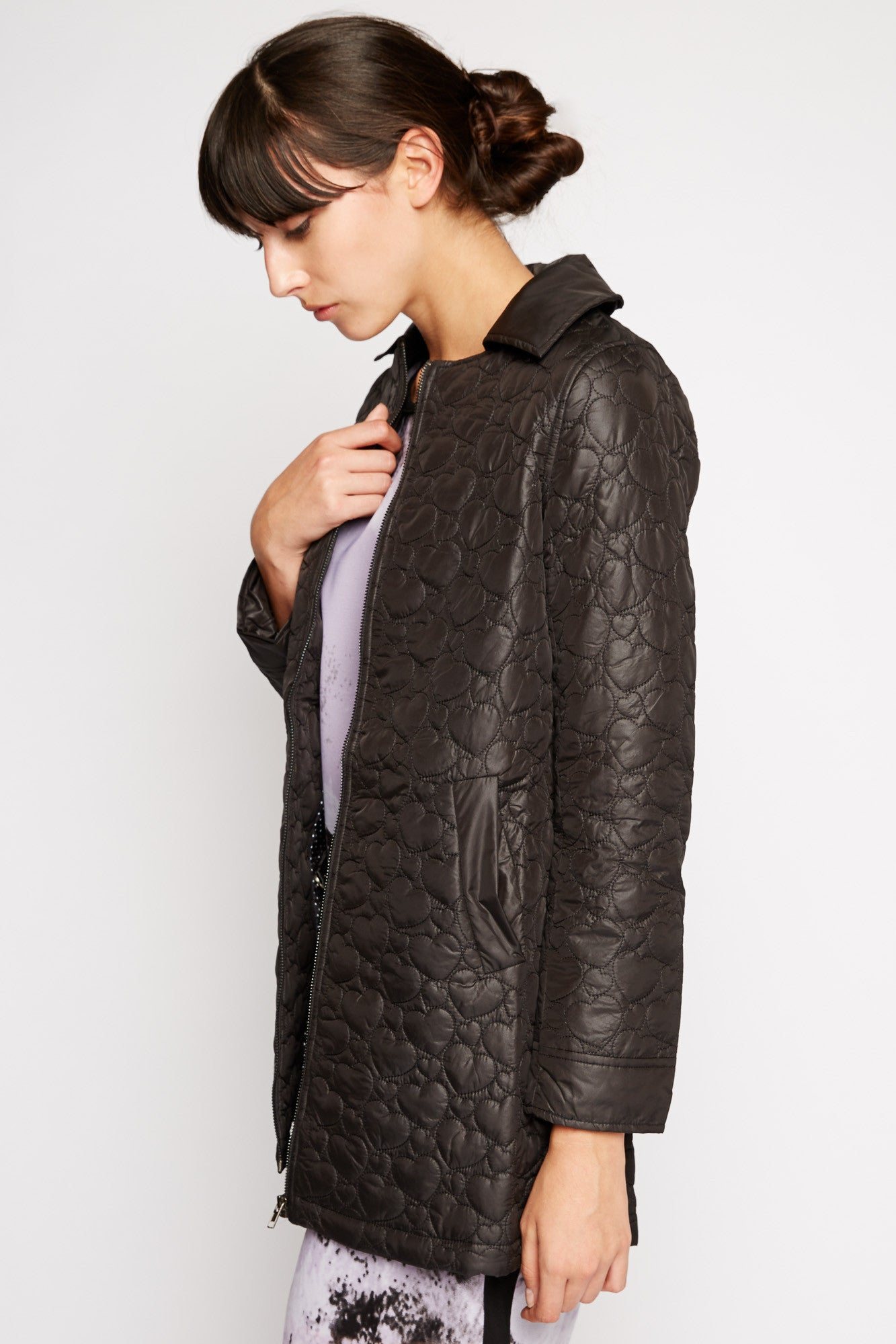 Quilted Hearts Coat by Kling
