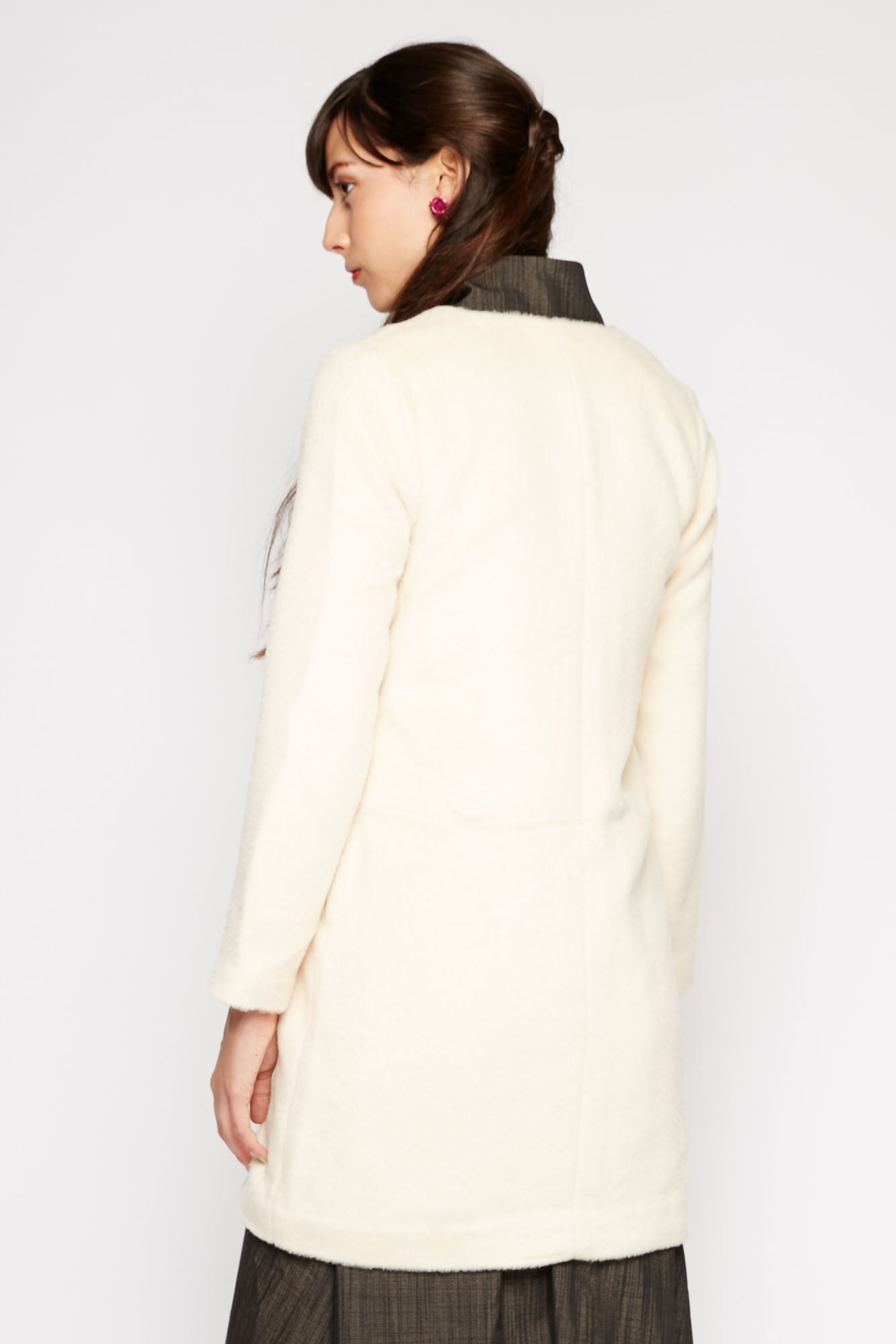 Libra Fuzzy Cream Coat