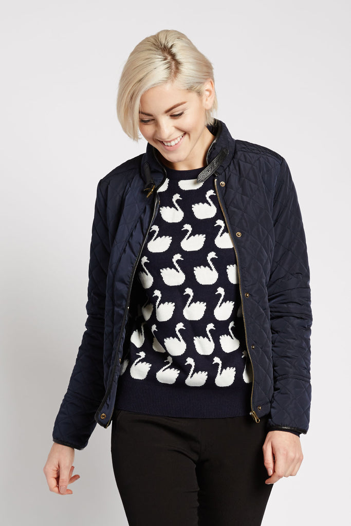 Quilted Navy Jacket by Peppercorn