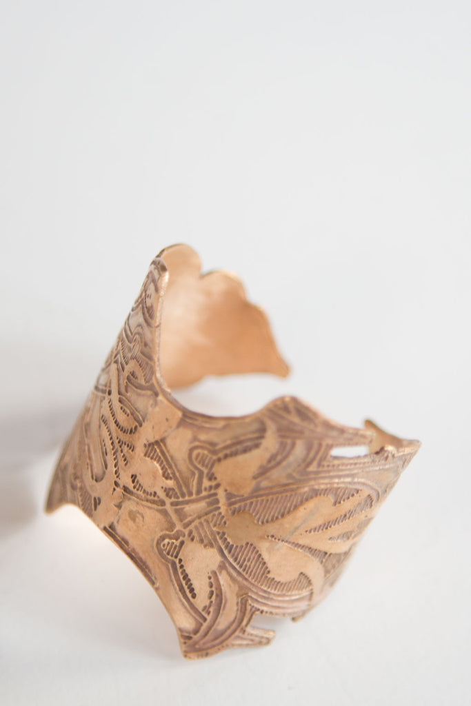 Queen Cuff by Kenly Warren in Ancient Bronze