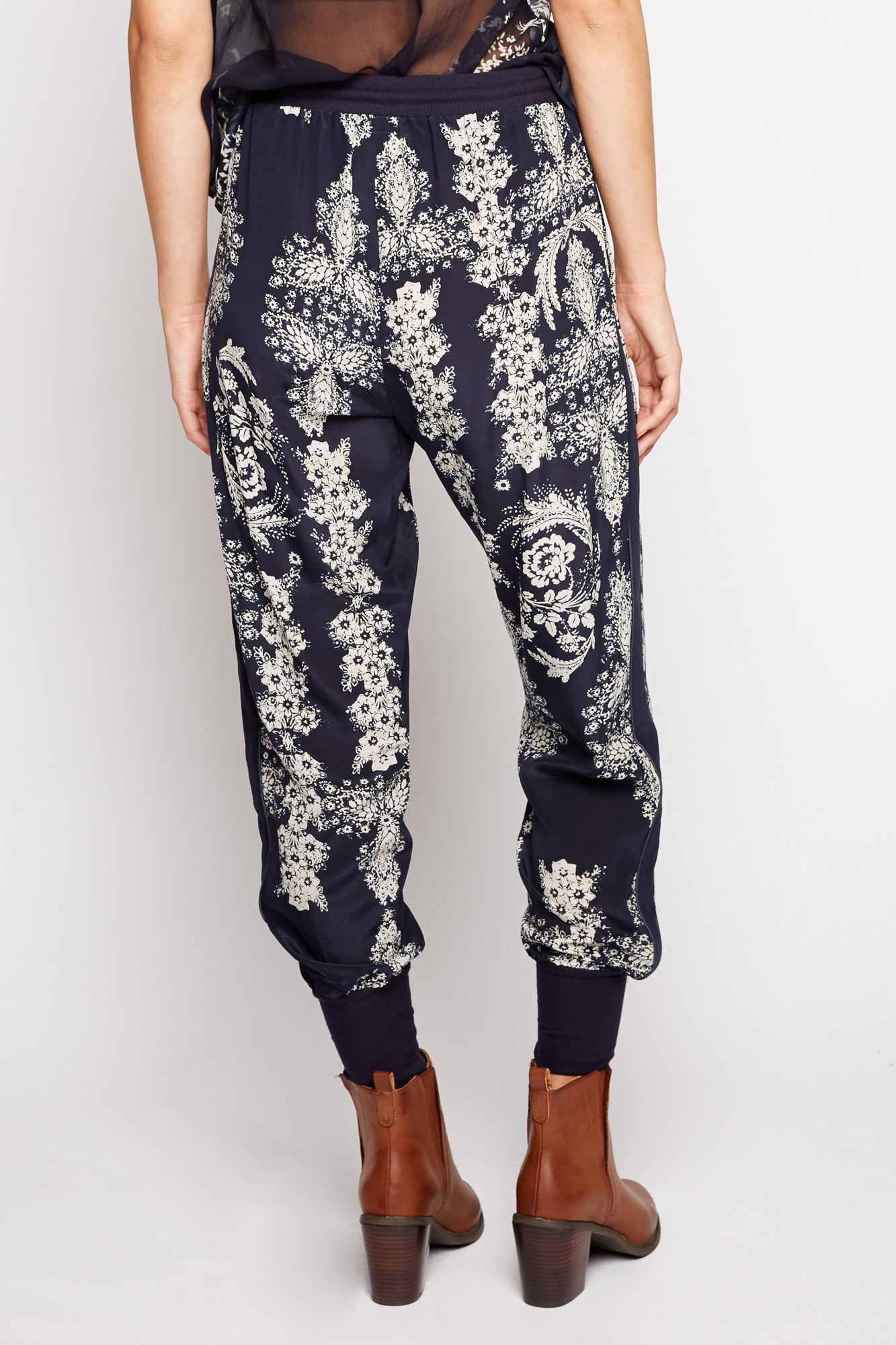 Gemini Floral Silk Lounge Pant by Chaser