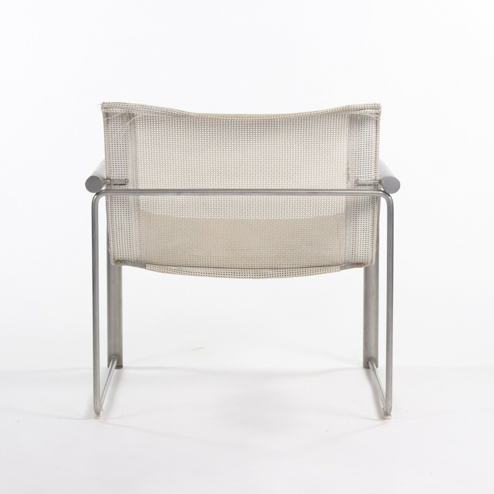 1980 Prototype Richard Schultz for Knoll Stainless Steel & Mesh Lounge Chair