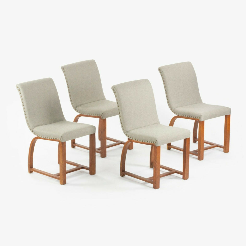 1930s Set of Gilbert Rohde Dining Chairs for Heywood Wakefield New Knoll Fabric