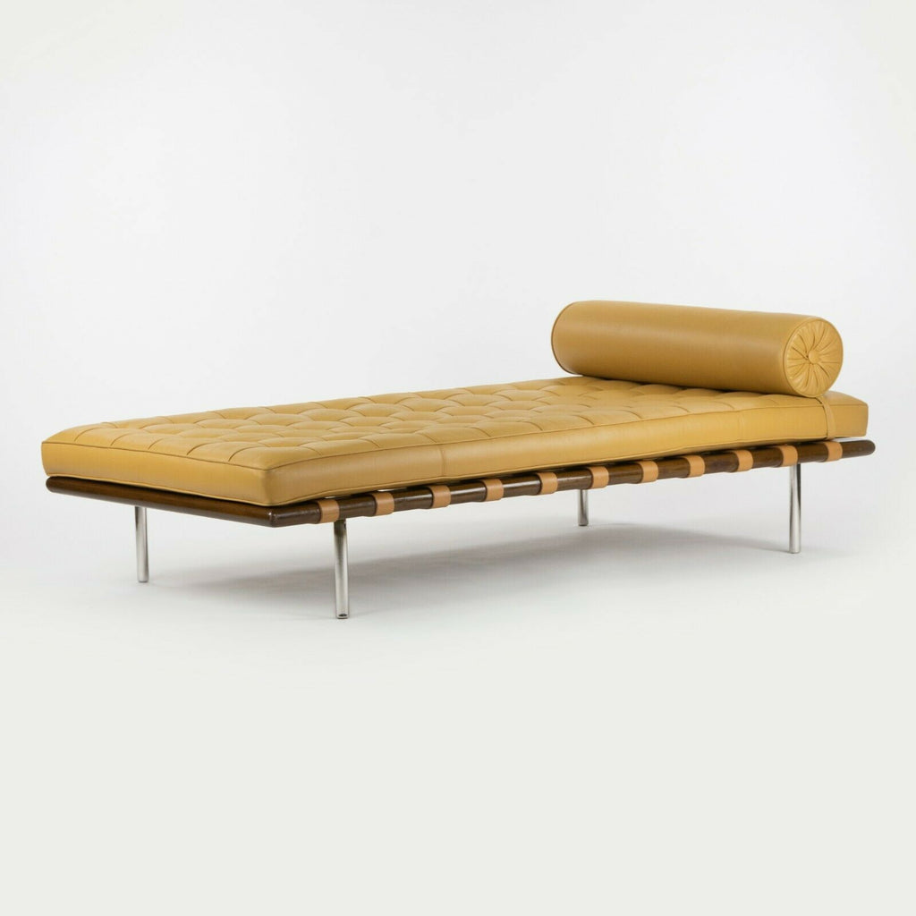1970s Mies Van Der Rohe for Knoll Barcelona Day Bed / Couch in Tan Leather Signed