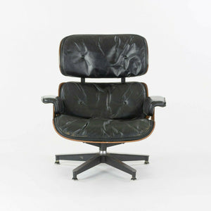 SOLD 1956 Holy Grail Herman Miller Eames Lounge Chair with Swivel Ottoman + Boot Glides + 3 Hole Arms