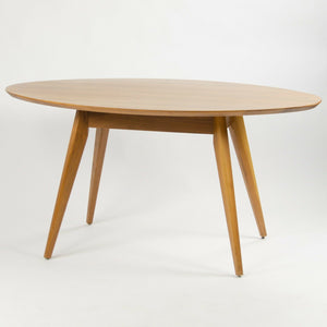Custom Jens Risom Knoll 56 in Oval Walnut Dining Cafe Table Saarinen Tulip