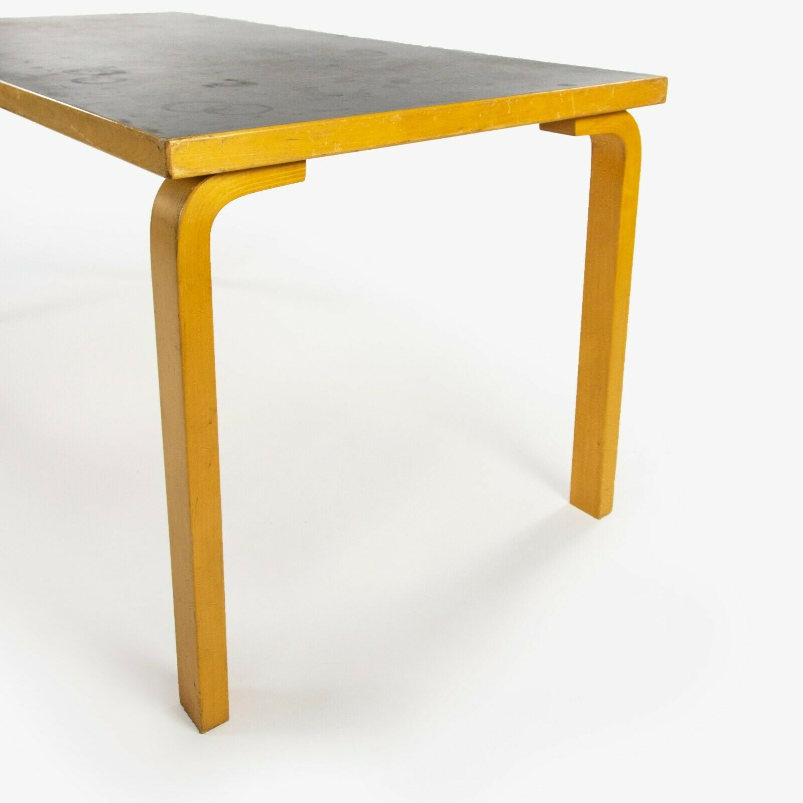 SOLD 1970s Alvar Aalto for Artek L-Leg Birch and Laminate Vintage Dining Table Knoll