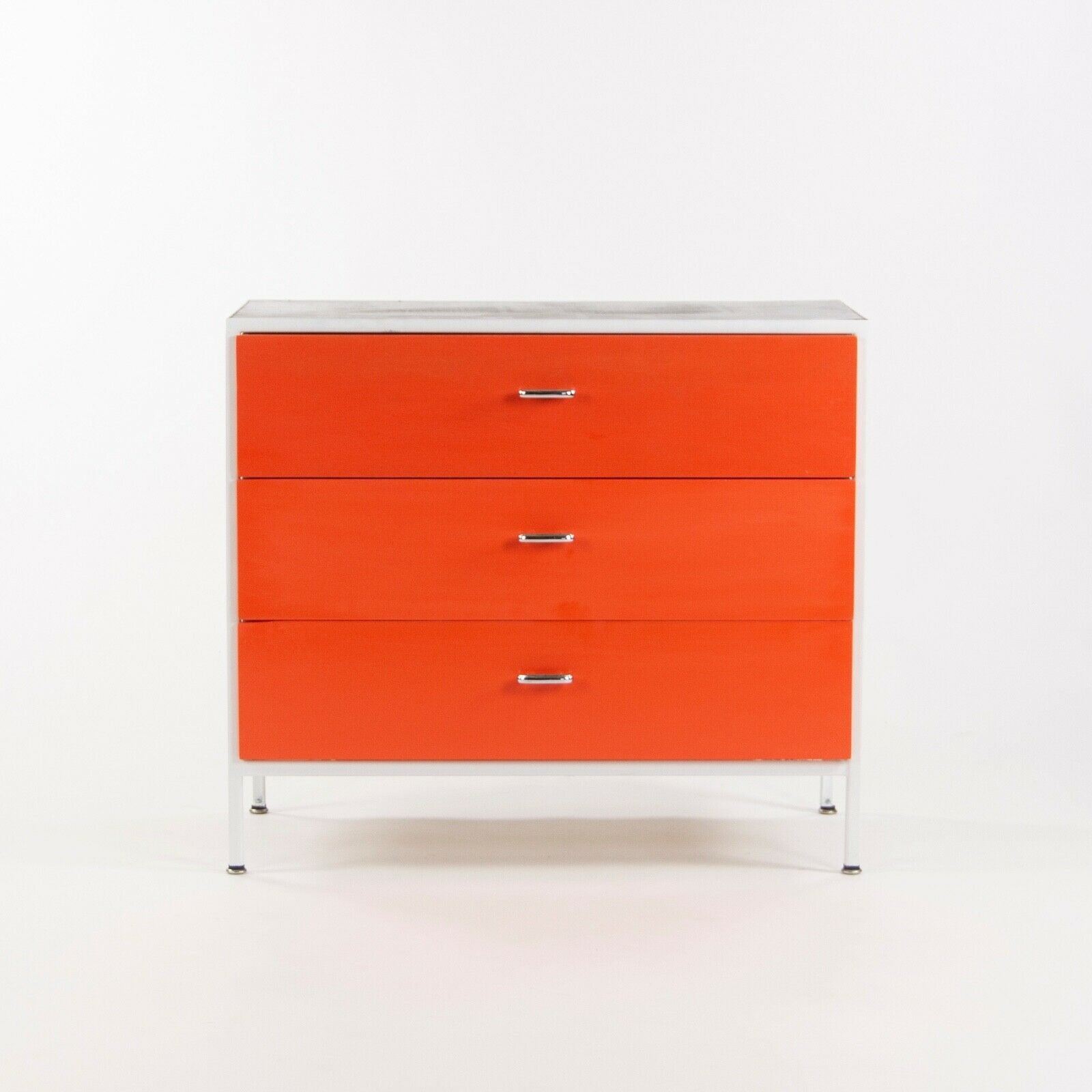 SOLD 1950s George Nelson for Herman Miller Steel Frame Case Series Orange Dresser