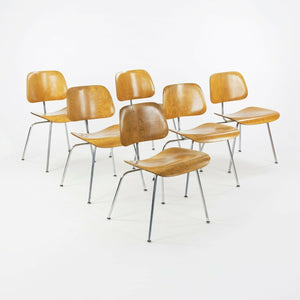 1948 Eames for Evans & Herman Miller Set of Six DCM Dining Chairs w/ Provenance
