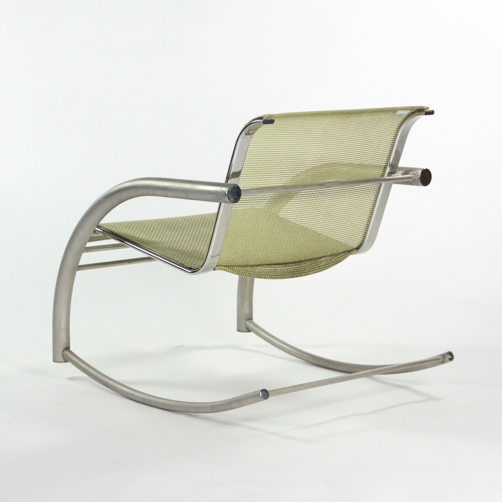 2001 Prototype Richard Schultz 2002 Collection Stainless Mesh Cantilever Rocker Chair
