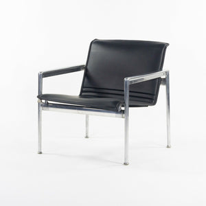 1966 Collection Prototype Richard Schultz Polished Aluminum Leather Lounge Chair
