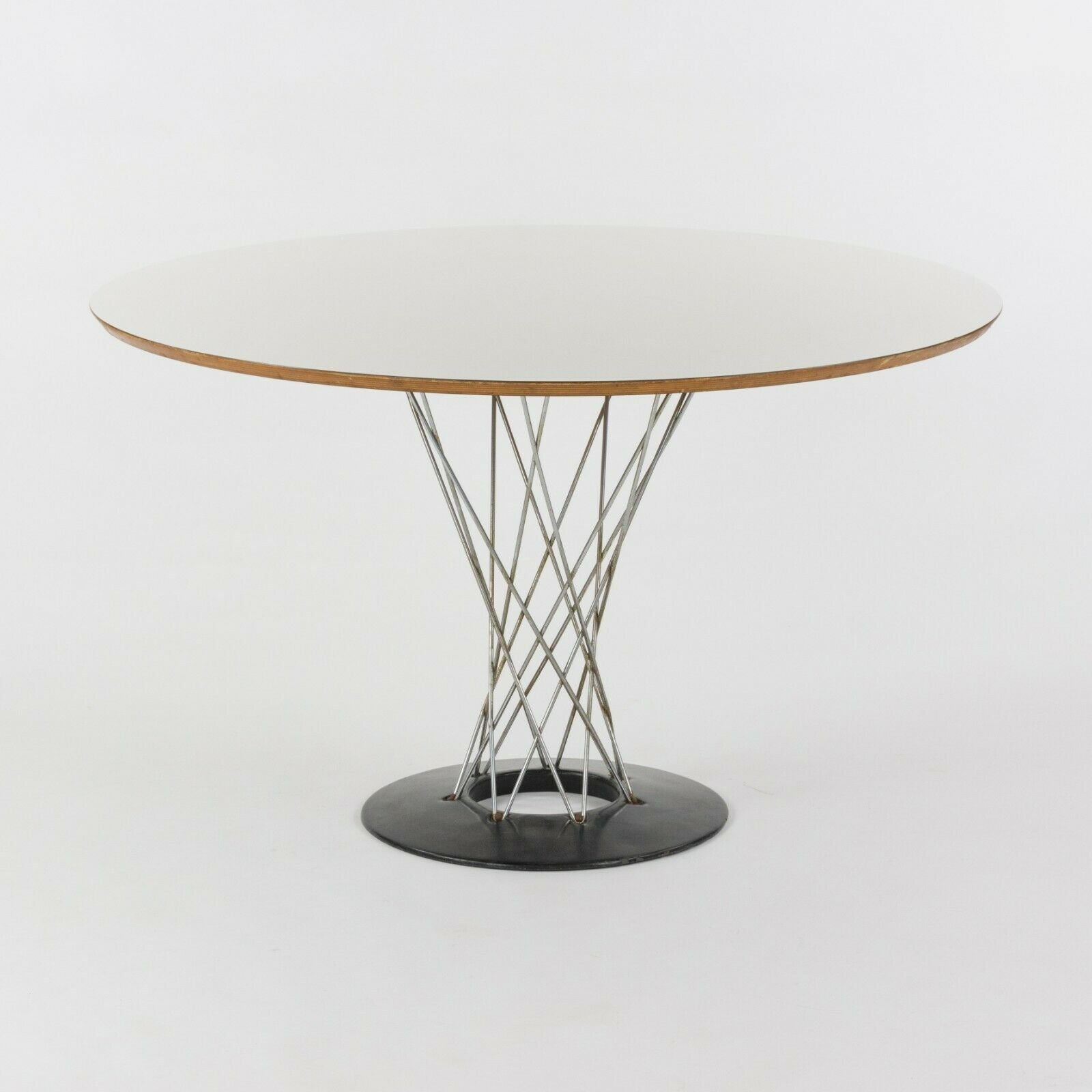 1960s Isamu Noguchi for Knoll Associates Cyclone Dining Table White Laminate 48""