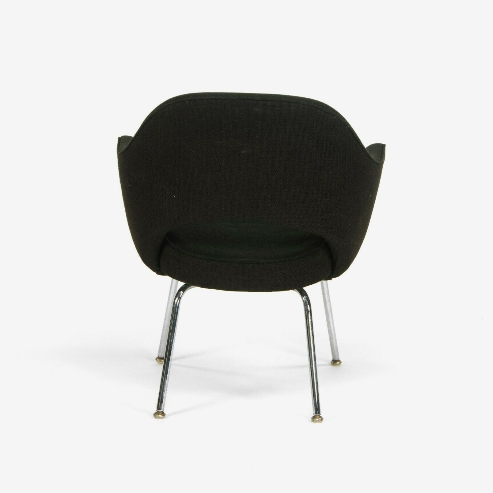 1970s Eero Saarinen for Knoll Executive Brown Fabric Arm Chair with Chrome Legs 4x Available