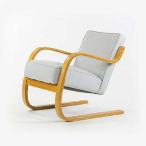 1930s Pair Early Alvar Aalto Finmar 34 402 Lounge Chairs Artek New Upholstery