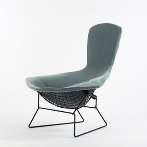 Knoll Harry Bertoia Wire Bird Lounge Chair w/ Brand New Velvet Cushion