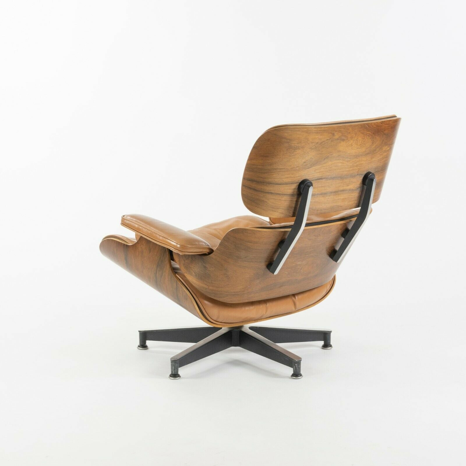 SOLD 1956 Herman Miller Eames Lounge Chair and Ottoman 670 671 with Boot Glides Tan