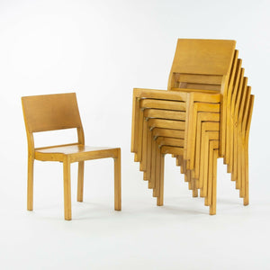 1951 Set of 8 Alvar Aalto No. 611 Stacking Dining Chairs by Artek of Finland