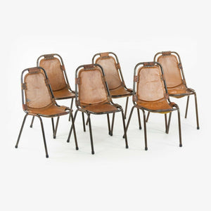 1960s Charlotte Perriand Les Arcs Stacking Chairs from Les Arcs Ski Resort Set of 6
