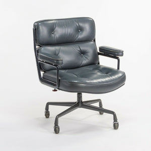 SOLD 1984 Herman Miller Eames Dark Blue Leather Time Life Executive Office Desk Chair