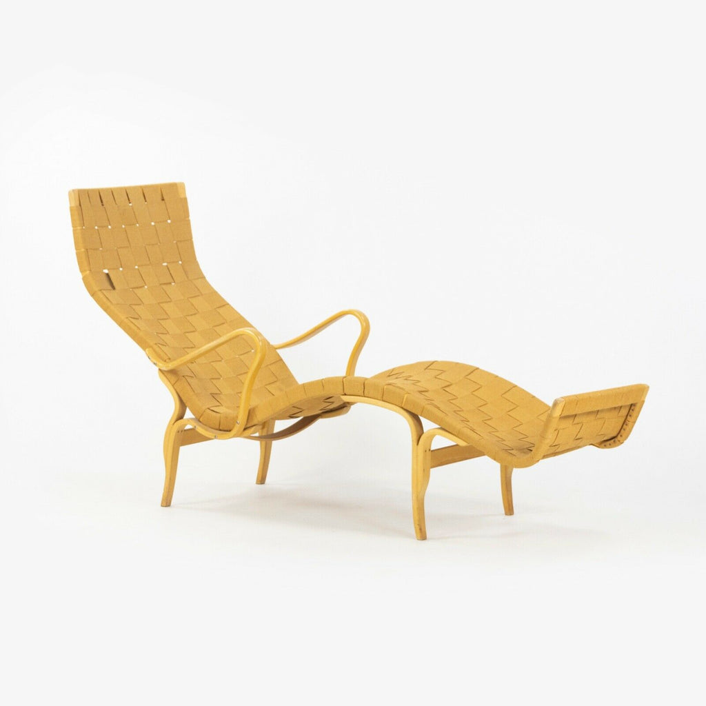 1950s Bruno Matthsson Karl Mathsson Pernilla Chaise Lounge Chair Made in Sweden