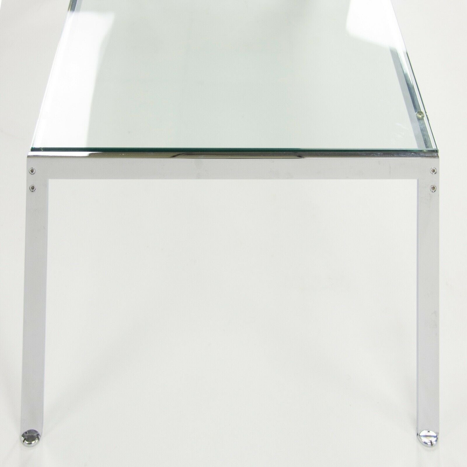 "Geiger Metal Series Coffee Table, Chromed Steel and Glass Top 48"" x 24"""