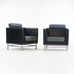 Ettore Sottsass Knoll Eastside Lounge Chairs Memphis Italy