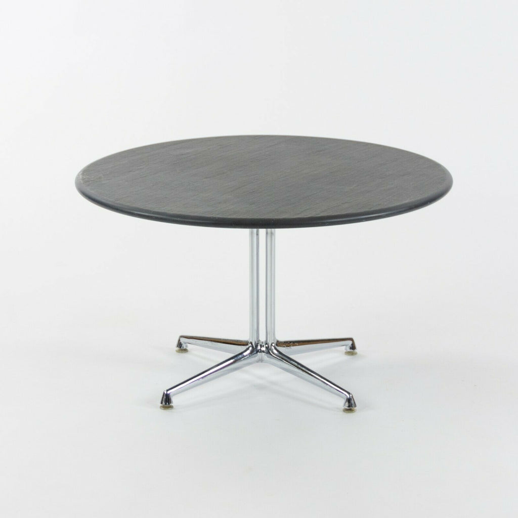1970s Herman Miller Eames Girard La Fonda End Coffee Table w/ Round Slate Top