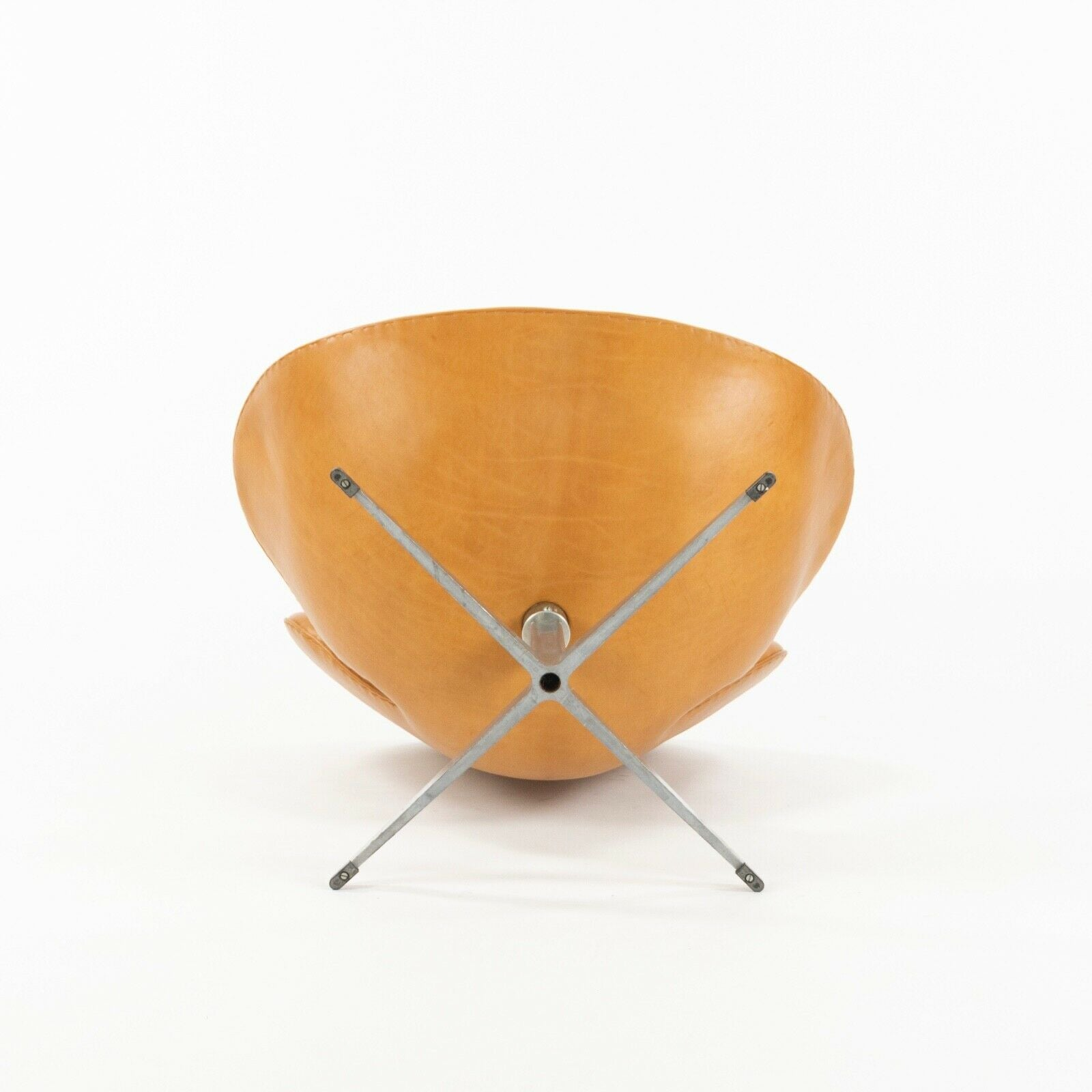 SOLD 1960s Arne Jacobson for Fritz Hansen Swan Chairs in Cognac Leather