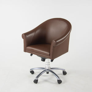 SOLD Poltrona Frau Brown Leather Luca Scacchetti Sinan Office Desk Chair Two Available