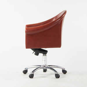 Poltrona Frau Red Leather Luca Scacchetti Sinan Office Desk Chair Multiples Available