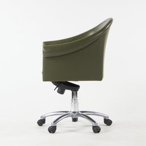 Poltrona Frau Green Leather Luca Scacchetti Sinan Office Desk Chair Multiples Available