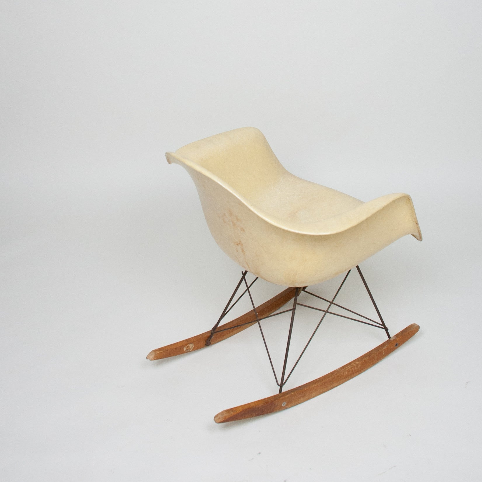 SOLD Eames Herman Miller Zenith Rope Edge Ankle Breaker Original Rocker Rocking Chair Marked