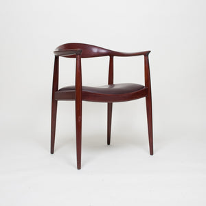 SOLD Hans Wegner Round The Chair Johannes Hansen For Knoll Vintage Teak Armchair