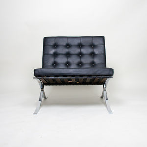 SOLD Knoll Mies Van Der Rohe Barcelona Chair Black Leather