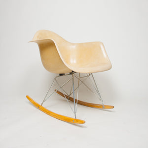 SOLD Eames Herman Miller Rocker Rocking Arm Shell Chair Marked Rare Vintage Example