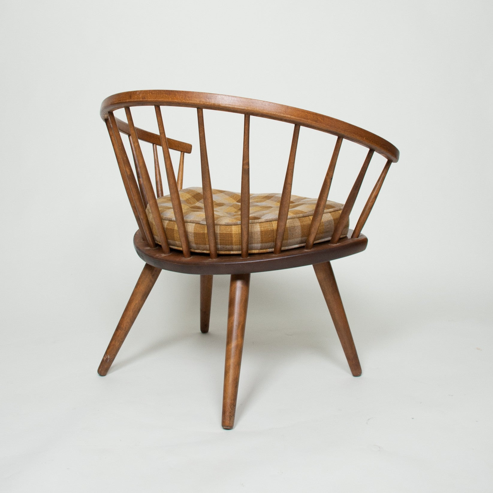 SOLD Round Chair By Yngve Ekstrom Arka Vintage Maple Armchair, Made In Sweden