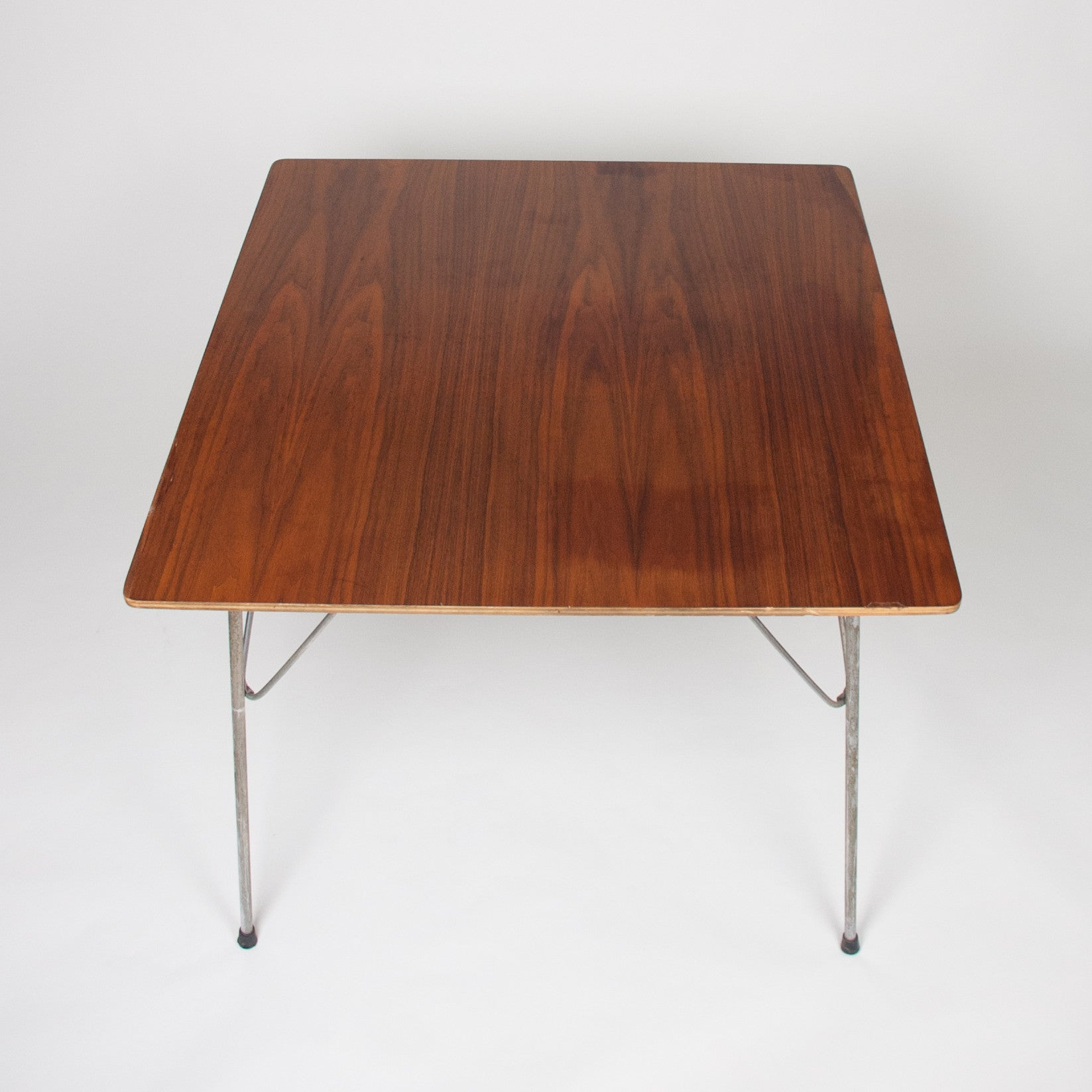 SOLD Early Eames Herman Miller Folding DTM 2 Square Dining Table