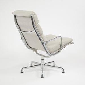 SOLD Herman Miller Eames Soft Pad Aluminum Group Lounge Chairs Fabric 2x MINT 2006