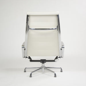 SOLD Eames Herman Miller Soft Pad Aluminum Group Lounge Chairs White Leather 2x 2008