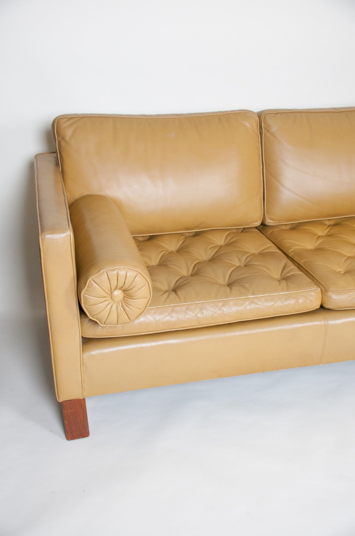 SOLD Mies Van Der Rohe For Knoll Leather Sofa Vintage RARE