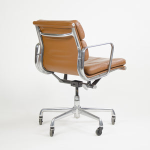 SOLD 2000's Cognac Eames Herman Miller Soft Pad Aluminum Group Desk Chairs 4x