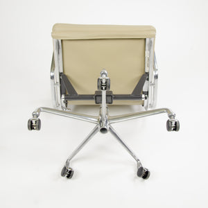 SOLD Herman Miller Eames Soft Pad Aluminum Group Chair Tan Leather MINT 2007 2x Avail