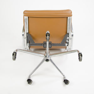 SOLD Herman Miller Eames Soft Pad Aluminum Group Chair Cognac Leather 2007 1x Avail