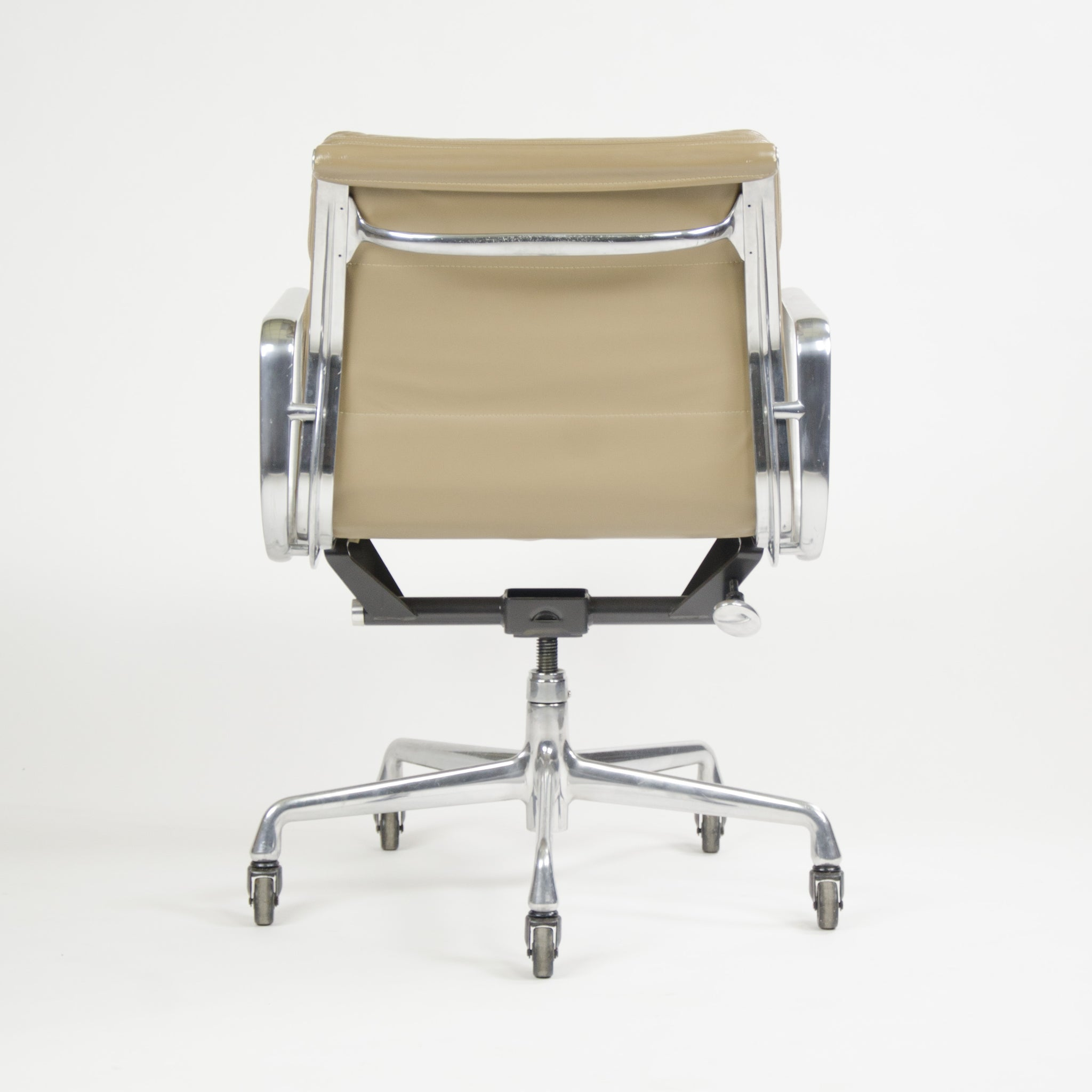 SOLD Herman Miller Eames Soft Pad Aluminum Group Chair Tan Leather 2000's 1x Avail