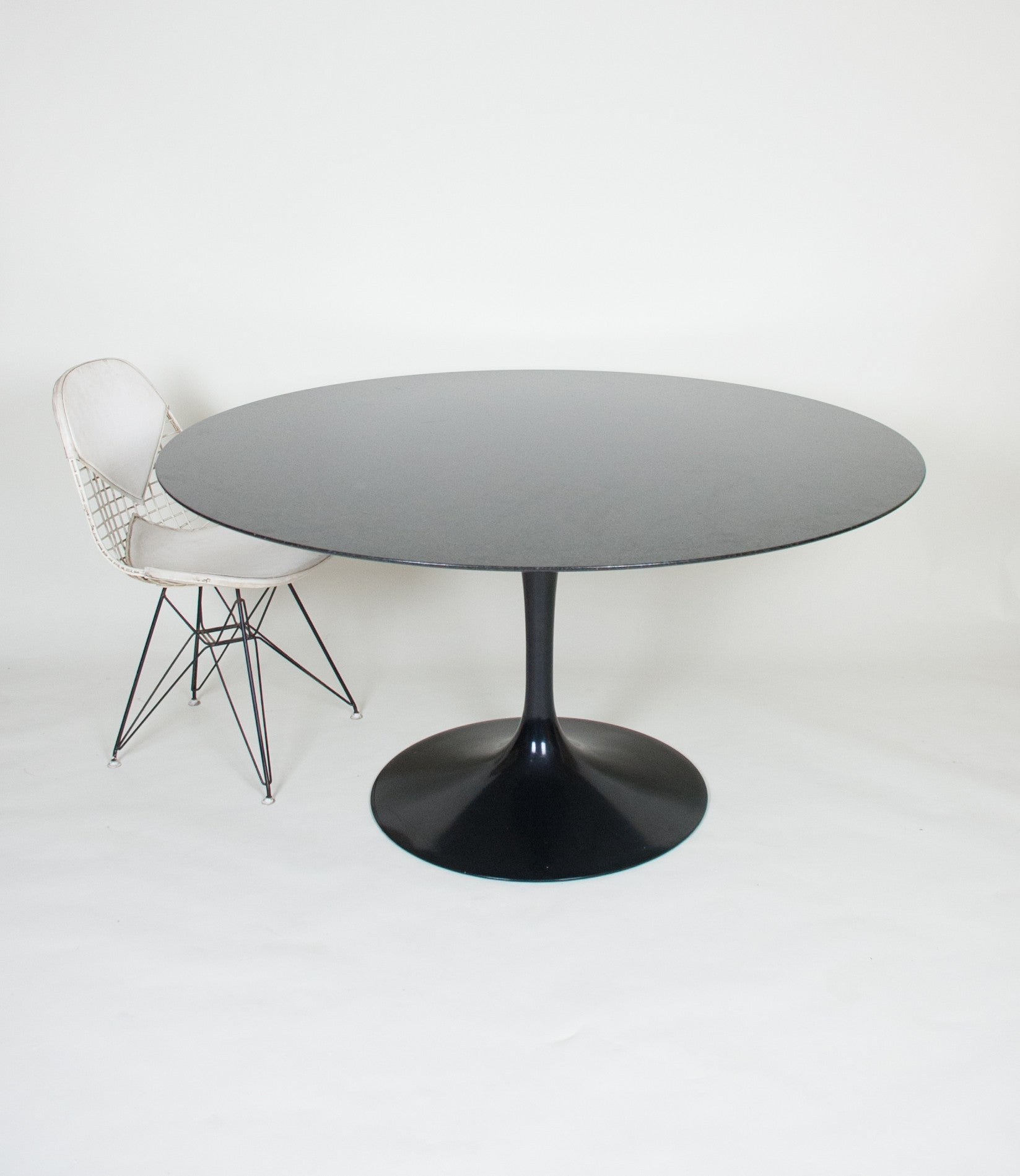 SOLD Eero Saarinen For Knoll 54 Inch Tulip Conference / Dining Table Granite, Like New!