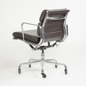 Herman Miller Eames Soft Pad Aluminum Group Chair Brown Leather 2006 2x Avail